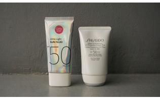 Review kem chống nắng Shiseido VS Cathy Doll - Đồ rẻ dùng thay đồ đắt được không?