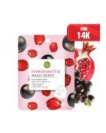 Mặt nạ lựu và quả maqui Baby Bright Pomegranate & Maqui Berry Serum Mask Sheet 20g