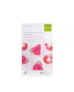 Mặt nạ giấy Dưa Hấu và Cà Chua Baby Bright Watermelon & Tomato Essence Mask Sheet 20g