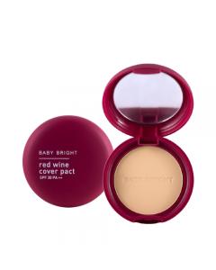 Phấn phủ rượu vang đỏ Baby Bright Red Wine Cover Pact SPF 30 PA++ 6.5g