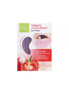 Mặt nạ dưỡng sáng da mắt Cà chua và Gluta Baby Bright Tomato & Gluta Eye Mask 1 Pair