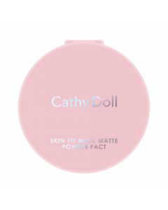 Phấn phủ Cathy Doll Skin Fit Nude Matte Powder Pact SPF30 PA+++ #02 Light Beige 4.5g