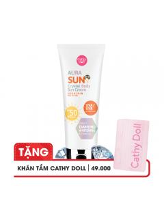 Kem chống nắng ánh nhũ Cathy Doll Aura Sun Crystal Body Sun Cream SPF50 PA+++ 138ml