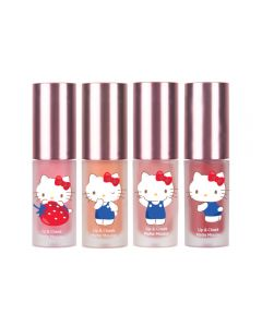 Son kem lì và má hồng Hello Kitty Cathy Doll Lip & Cheek Matte Mousse 4g