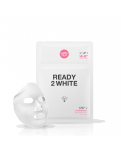 Mặt nạ sữa trắng da và tẩy tế bào chết 2 trong 1 Cathy Doll Ready 2 White Lightening Milky Mask Sheet 3.5ml+25g