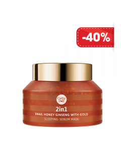 Mặt nạ ngủ Cathy Doll 2in1 Snail Honey Ginseng with Gold Sleeping Serum Mask-70g