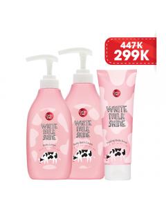 Bộ sản phẩm chăm sóc da sữa bò ( Sữa tắm, Tẩy tế bào chết body, Sữa dưỡng thể)